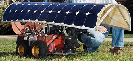Robot Weeder Solar Powered