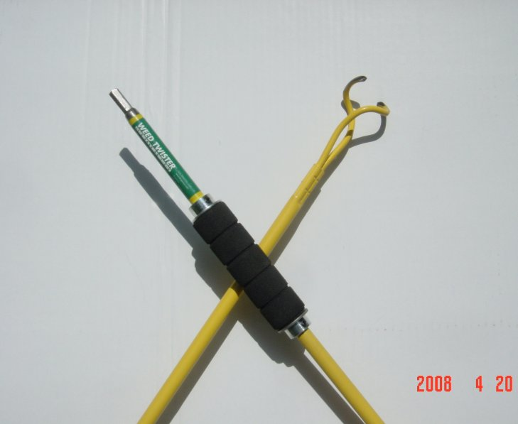 Click to enlarge image of TurboTorx Drill-Ready Weed Twister!